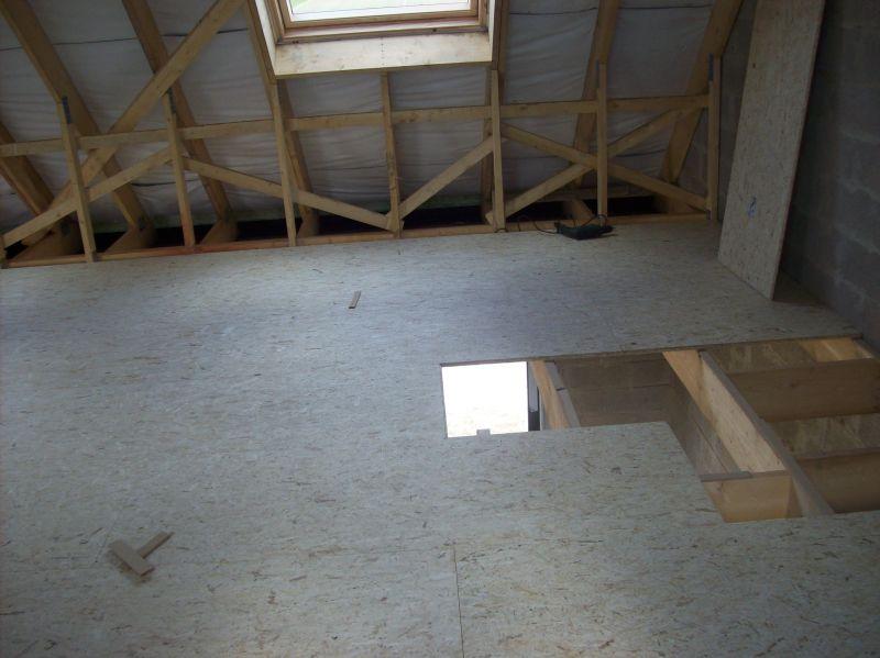 plancher dalles osb pos dans combles am nageables constructionserieuse62acq. Black Bedroom Furniture Sets. Home Design Ideas